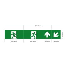 Piktogram MAGION LED Vészvilágító Kijáratjelző Emergency GXNO030