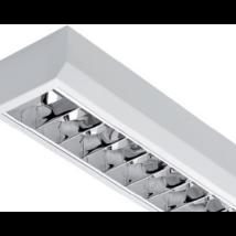 MLX 1x22W (1X58W) Dupla parabolatükrös 150cm LED fénycsőre előkészített armatúra lámpatest MLX HFM158DP LED