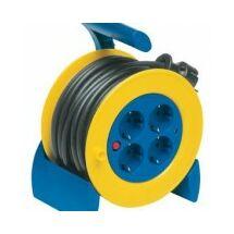 Düwi Műanyag kábeldob 15m vezetékkel MT 3x1,5 IP20 fém állvánnyal 4-es dugalj