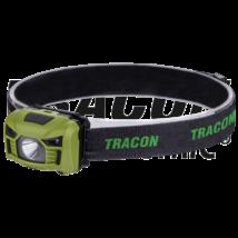 Tracon Fejlámpa 3W, 120 lm, 5h, 3,7 V, 1200 mAh 18650 Li-Po akkumulátoros, mozgásérzékelős kapcsolással HL120B