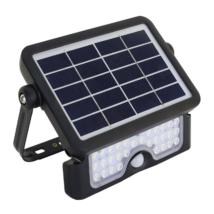 Tracon napelemes fényvető 5W 4000K Természetes fehér 500lm mozgásérzékelővel solar LSFL5W