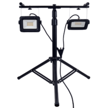 Tracon fényvető 2x30W 2x2400 lm 4000K hordozható állványos reflektor gumi vezetékkel RSMDAW230W