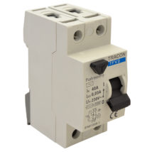 Tracon Fi relé 2P 25A/100mA AC érintésvédelmi relé áram védőkapcsoló TFV2-25100