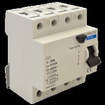 Tracon 4P Fi relé 25A 100mA AC érintésvédelmi relé áramvédő kapcsoló TFV4-25100