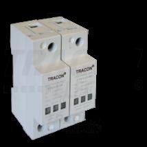 Tracon AC/DC túlfeszültség levezető, 1+2-es típus, egybeépített 230/400 V  TTV1+2-80-2P