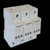 Tracon AC/DC túlfeszültség levezető, 1+2-es típus 230/400 V egybeépített TTV1+2-80-3P Tracon