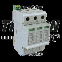 Tracon DC túlfeszültség levezető PV rendszerhez; 2-es típus; 3modul TTV2-40-DC-600
