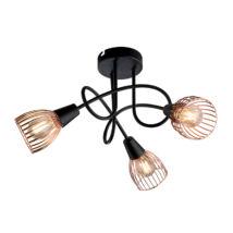 Elmark AMBIX 3-as spot lámpa 3xE14 fekete-réz 955AMBIX3R