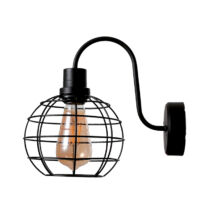 Elmark HOLLY fali lámpa 1xE27 fekete 955HOLLYWL/BL