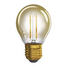Emos Vintage filament LED lámpa-izzó kisgömb E27 2W 2200K meleg fehér Z74306