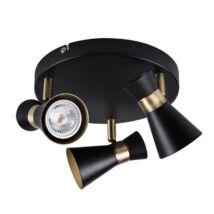 Kanlux MILENO EL-3O B-AG fali lámpa fekete-arany 3xGU10 29112