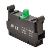 Tracon Ipari nyomógomb segédérintkező NYG(K)3 sorozathoz zöld 1NO NYG3-CE1