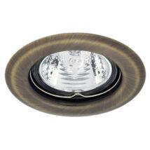 Kanlux álmennyezeti beépíthető spotlámpa matt réz lámpatest Argus CT-2114-BR/M