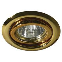 Kanlux álmennyezeti beépíthető spotlámpa billenthető 15° arany lámpatest Argus CT-2115-G