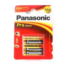Panasonic Pro-power alkáli TARTÓS! mikro ceruza elem AAA 1.5V LR03 /4 db/csomag/