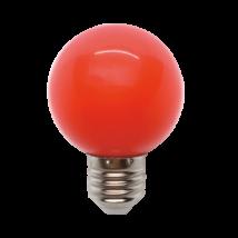 LED izzó-lámpa gömb G45 3W E27 piros 99LED825
