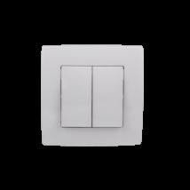 Elmark City 106+6 dupla váltókapcsoló kettős alternatív kapcsoló fehér süllyesztett 190051