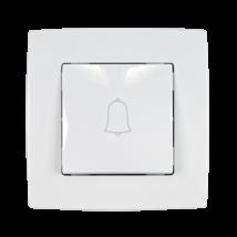 Elmark City N101 nyomó kapcsoló csengő jelzéssel fehér süllyesztett
