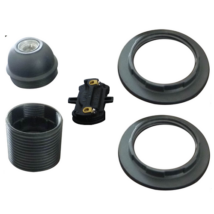 Foglalat E27 csillárfoglalat 2db gyűrűvel fekete Anco 321213