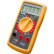 Düwi Digitális mérőkészülék hőmérővel, diódavizsgálat, akusztikus folytonossági vizsgálat, fekete / sárga  9V elem (tartozék)0650H