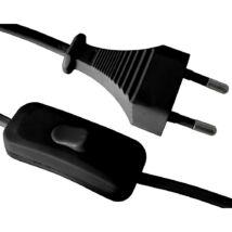 GAO Zsinórkapcsolós Csatlakozóvezeték euró dugóval, kapcsolóval, 1,5m fekete 6782H