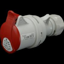 SEZ Ipari lengő csatlakozó aljzat dugalj 4 polusú 32A IP44 ISN 3253 DAFH-323