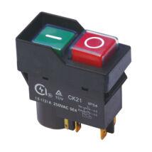 Tracon bepattintható relés biztonsági kapcsoló fekete kerettel SSTM-035