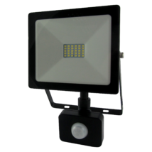 LED Fényvető reflektor 20W SMD mozgásérzékelővel 1600 Lm 4200K természetés fehér SLIM (Tr)
