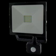 LED Fényvető reflektor 30W SMD mozgásérzékelővel 2400 Lm 4200K természetés fehér SLIM Trixline