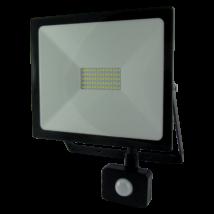 LED Fényvető reflektor 50W SMD mozgásérzékelővel 4000 Lm 4200K természetés fehér SLIM (Tr)