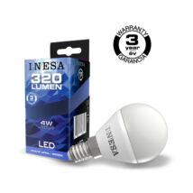 INESA (SYLVANIA) led lámpa-izzó kisgömb E14 4W 4000K természetes fehér 320 lumen (Utolsó darabok!)