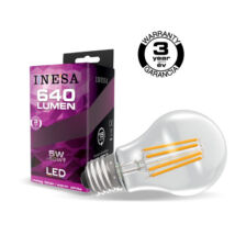 INESA (SYLVANIA) filament led lámpa-izzó E27 5W 2700K meleg fehér 640 lumen 60616