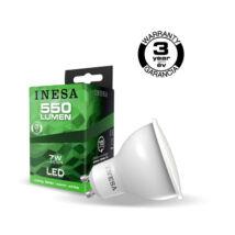 INESA (SYLVANIA) led lámpa-izzó GU10 7W 3000K meleg fehér 550 lumen 60309 (Utolsó darabok!)