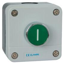 Elmark EL1 - BP102 tokozott ipari nyomógomb zöld IP65 401132