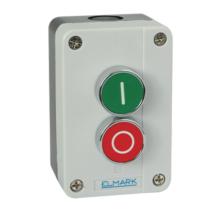 Elmark EL1 - B213 tokozott ipari nyomógomb zöld, piros IP44 401213