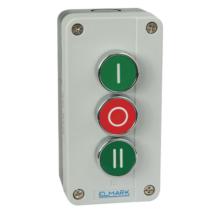 Elmark EL1 - B339 tokozott ipari nyomógomb zöld, piros, zöld IP44 401339