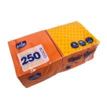 Milyo color 2 rétegű gasztro éttermi szalvéta 250 lap narancssárga 32x32 cm 250db