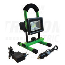 Tracon hordozható akkumulátoros led reflektor-fényvető 10W 4500K természetes fehér RSMDAE10W