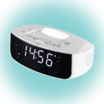 HOME Digitális LED ébresztőóra rádióval és lámpával LTCR 03 Somogyi