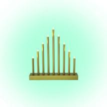 Somogyi LED-es gyertyapiramis időzítővel dekoráció arany 9 LED 6V KAD 09/GD