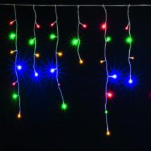 Home LED-es jégcsap fényfüggöny 8 programos 10m IP44 színes karácsonyi dekoráció 230V KAF 200L 10M/M
