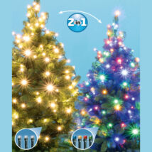 Somogyi LED-es DUAL COLOR fényfüzér 200 db meleg fehér/színes LED 14 m