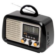 SAL Retro táskarádió és multimédia lejátszó zenehallgatás mobilkészülékről, számítógépről RRT 2B Somogyi