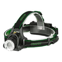 Tracon LED fejlámpa akkumulátorral és állítható fókusszal 5W 500 lm, 5 h 3,7V 1500 mAh 18650 Li-Po IP54 HL500B