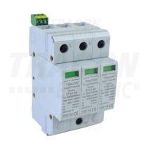 Tracon AC 3 pólusú túlfeszültség levezető 2-es típus cserélhető betéttel TTV2-40-3P