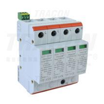 Tracon AC 4 pólusú túlfeszültség levezető 2-es típus cserélhető betéttel TTV2-40-4P