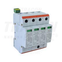 Tracon AC 3 pólusú túlfeszültség levezető 2-es típus cserélhető betéttel TTV2-20-3P+N/PE