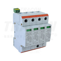 Tracon AC 4 pólusú túlfeszültség levezető 2-es típus cserélhető betéttel TTV2-20-4P