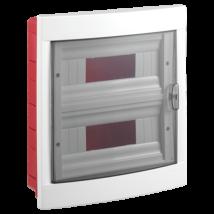 Lakáselosztó elosztószekrény elosztó doboz 2x12 24 modulos süllyesztett VIKO