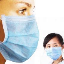 Háromrétegű egészségügyi szájmaszk, megkötős KÉSZLETEN